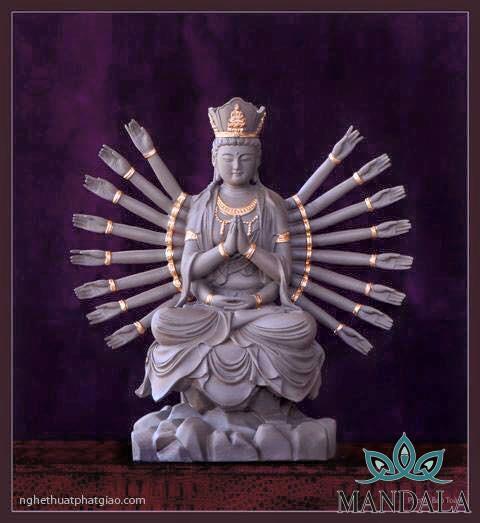Tôn tượng 33 hóa thân đức Quán Thế Âm