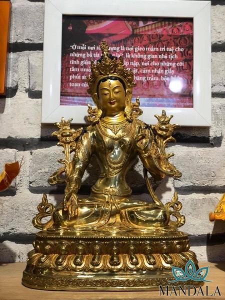Tôn tượng Tara Bạch Độ Mẫu - kích thướt 33cm
