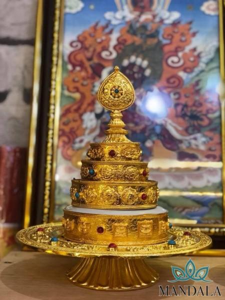 Mạn Đà La 24cm mạ vàng