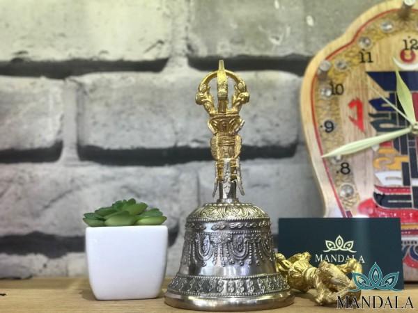 Chuông Chày Nepal Cáng vàng pha bạc
