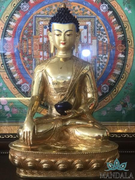 Tôn tượng Thích Ca Mâu Ni mạ vàng 24K 33cm