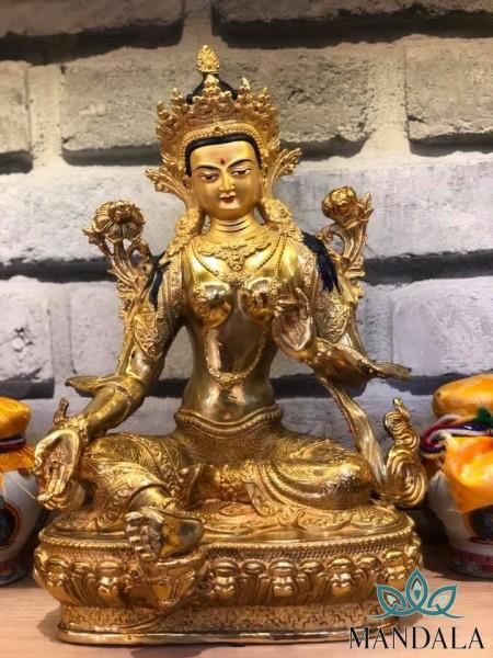 Tôn tượng Tara Xanh 33cm