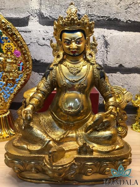 Tôn tượng hoàng thần tài 21cm Nepal